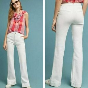 Anthropologie Pilcro Jeans High Rise Bootcut White